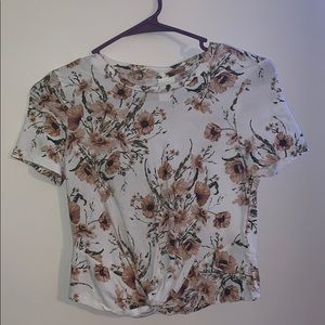 White flower print H&M shirt